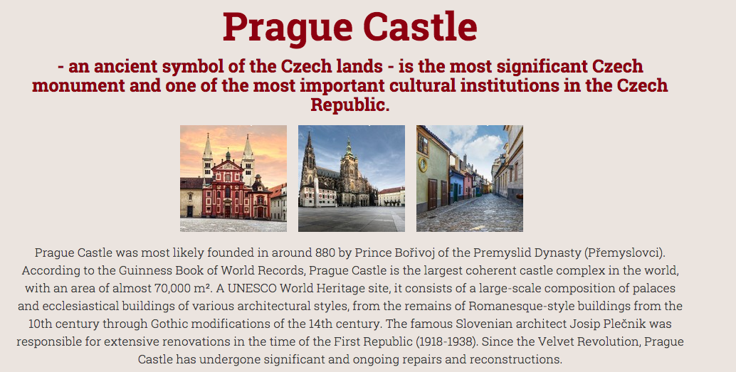 Prague Castle - a must see in Prague!